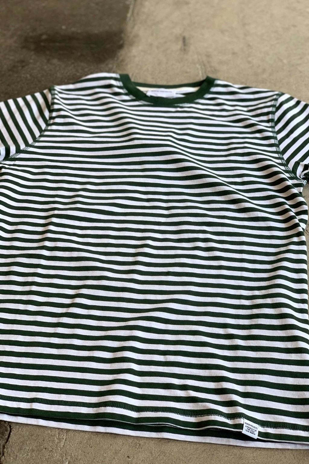 Norse Projects Niels Classic Stripe Tee Dartmouth Green