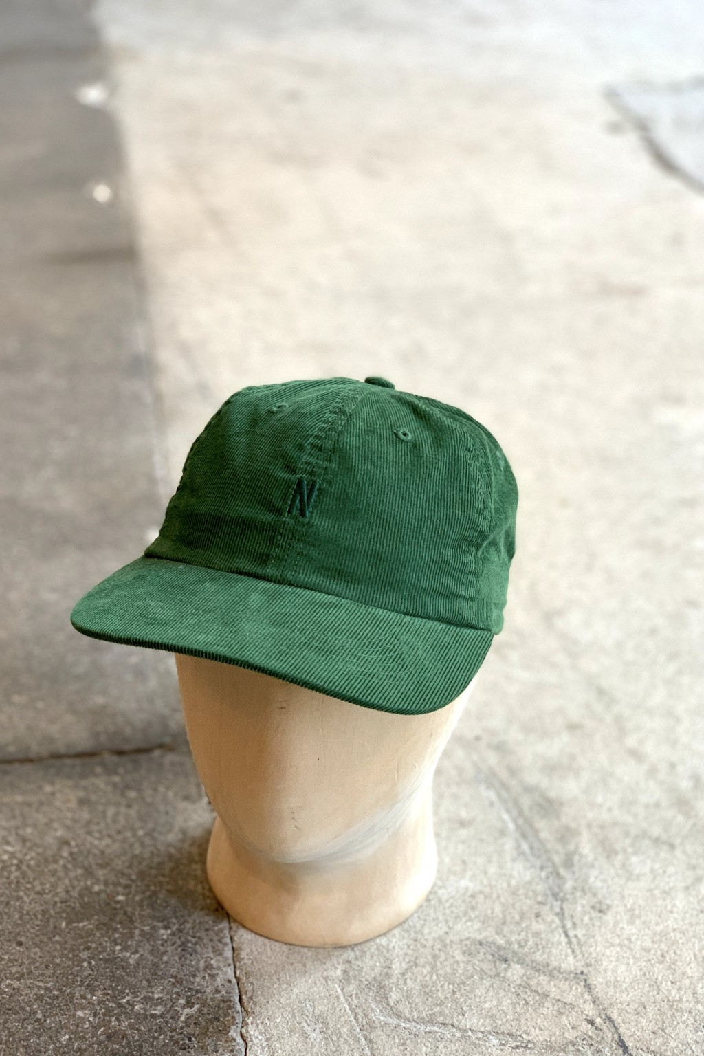 Norse Projects Baby Corduroy Sports Cap Dartmouth Green