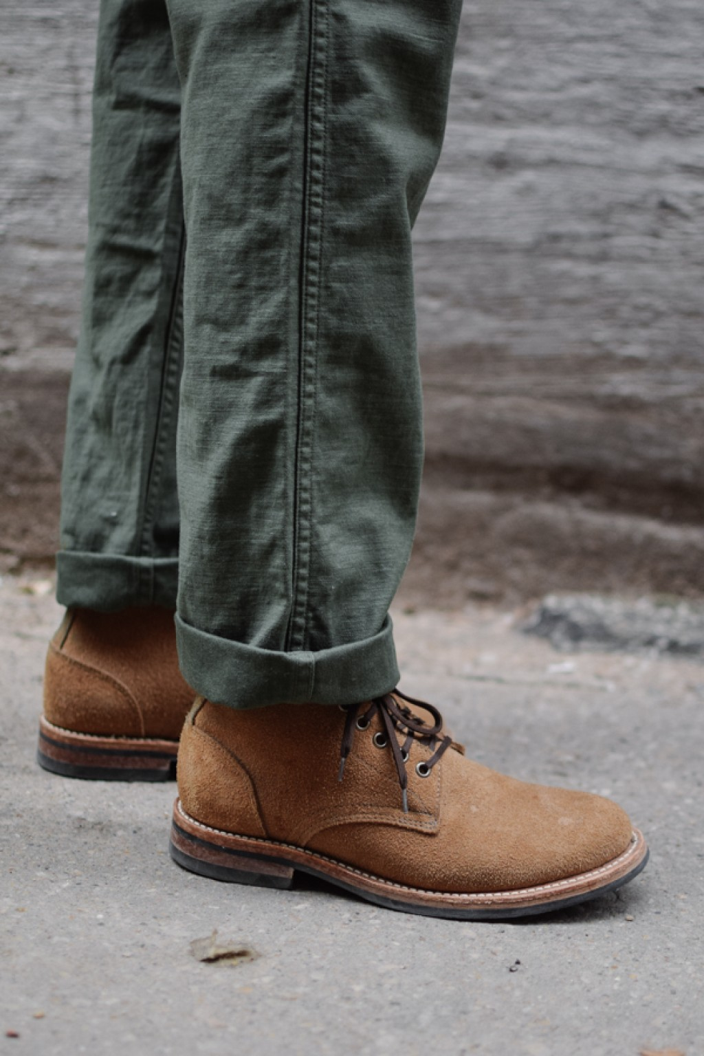 Orslow Slim Fit Army Fatigue Pants Green Cotton