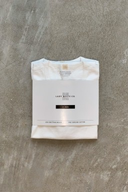 """Lady White Co. Two Pack T-Shirts """"Our White"""" Cotton"""